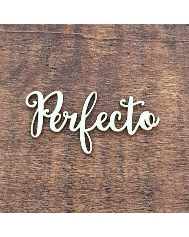 Silueta Texto 009 Perfecto - Madera