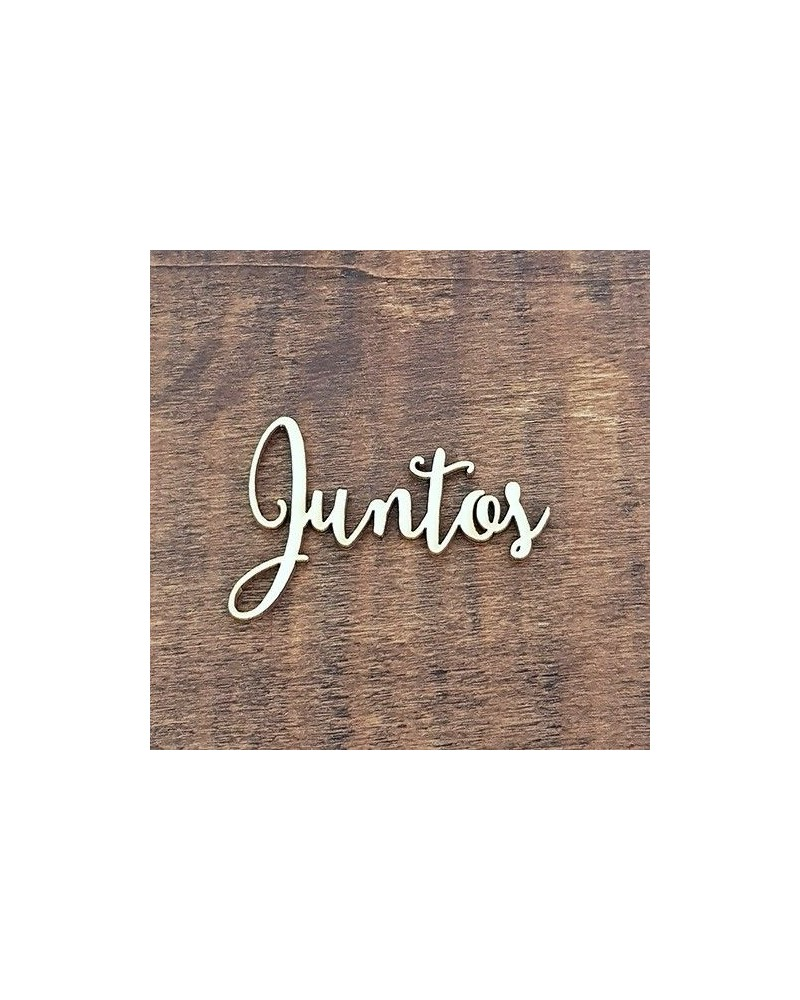 Silueta Texto 014 Juntos - Madera