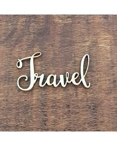 Silueta Texto 025 Travel - Madera