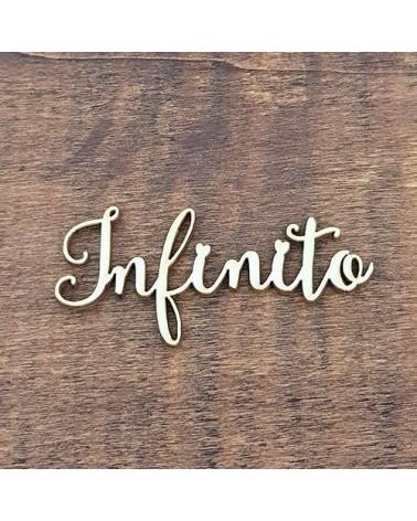 Silueta Texto 033 Infinito - Madera
