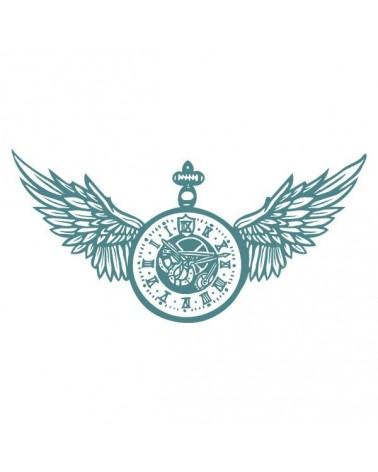 sello de caucho mya 0032 reloj alado