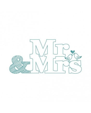 Sello Caucho Mya 0043 Mr & Mrs
