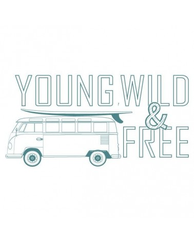 Sello Caucho Mya 0044 Young Wild & Free
