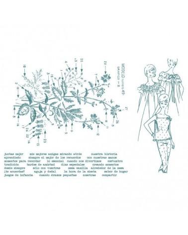 Rubber Stamp Aurora Almunia 006 Composition