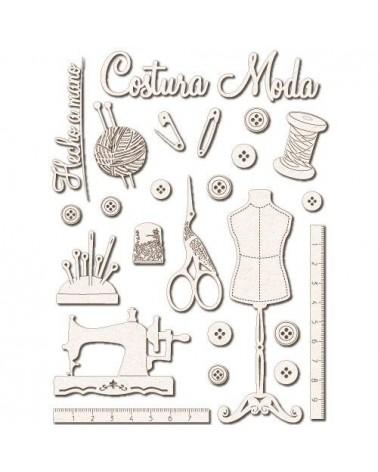Set Siluetas Cartón 025 Costura - 1