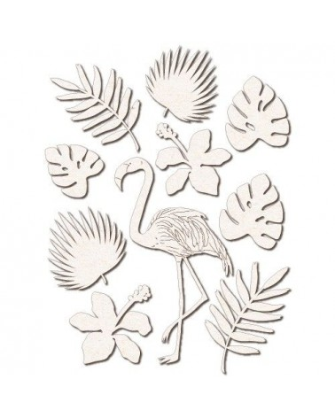 Chipboard Silhouettes set 026 Flamingo