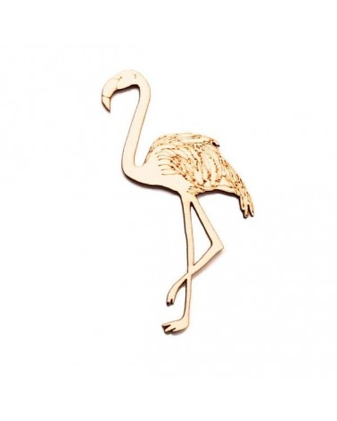 Wood Silhouette Figure 205 Flamingo