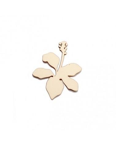 Wood Silhouette Figure 206 Tropical Flower