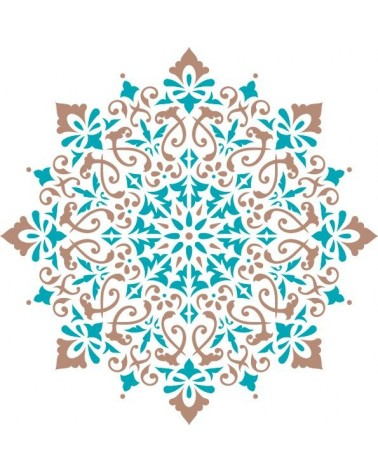 Stencil Home Decor Roseton 015 Mandala - 2