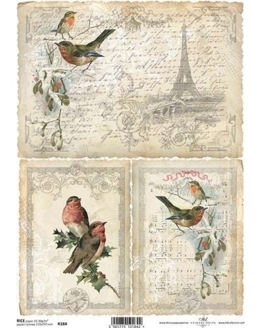Papel de Arroz Decoupage R184 A4