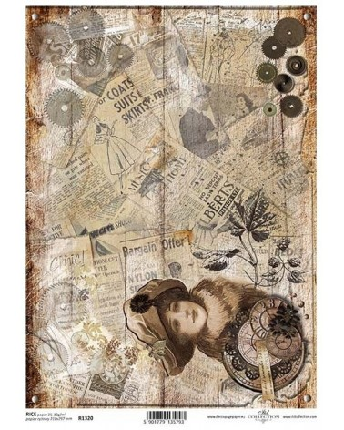 Papel de Arroz Decoupage R1320 A4