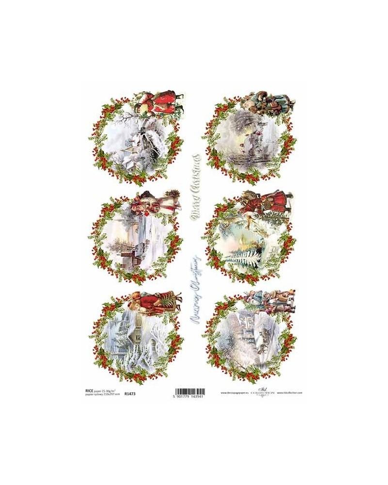 Papel de Arroz Decoupage R1473 A4