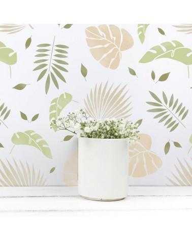 Stencil Home Decor Floral 006 Hojas Tropicales - 1