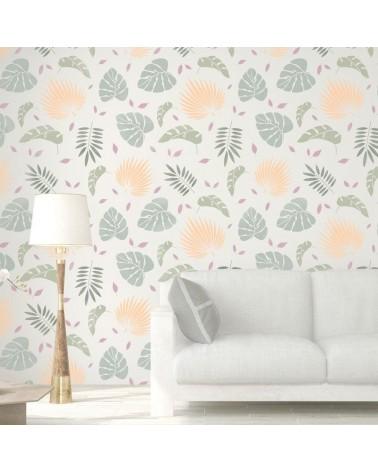 Stencil Home Decor Floral 006 Hojas Tropicales - 2