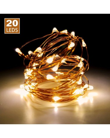 Luces Leds 20un Cable Cobre