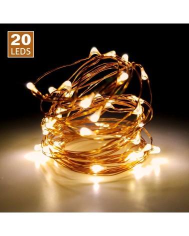 Luces de led 20uds. (Cable color cobre)