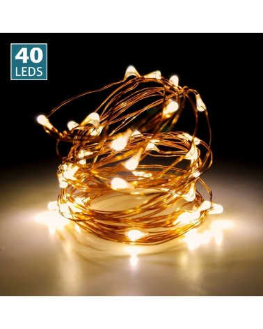 Luces de led 40uds. (Cable color cobre)
