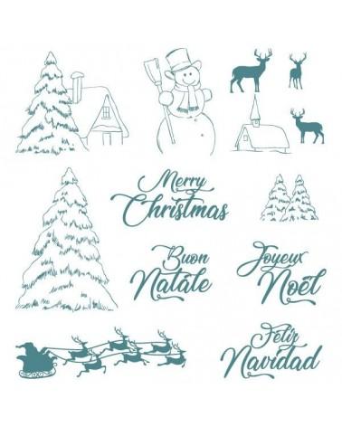 Sello Caucho Mya 0113 Set Navidad 13Un