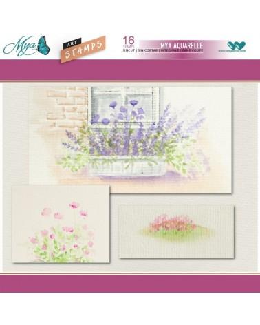 Sello Caucho Mya 0098 Set Floral Mini 16Un