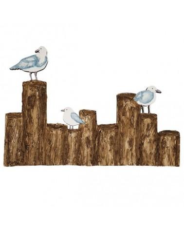 Soporte 095 Gaviotas sobre troncos