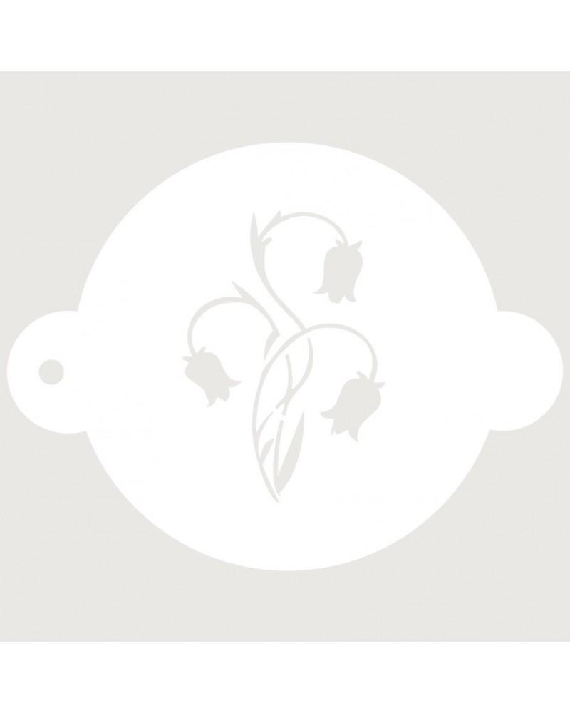 Stencil Reposteria Floral 017