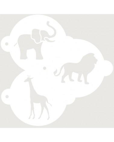 Stencil Reposteria Kit Animales 001