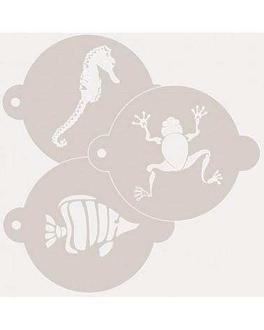 Stencil Reposteria Kit Animales 003