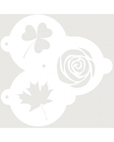 Stencil Reposteria Kit Floral 001