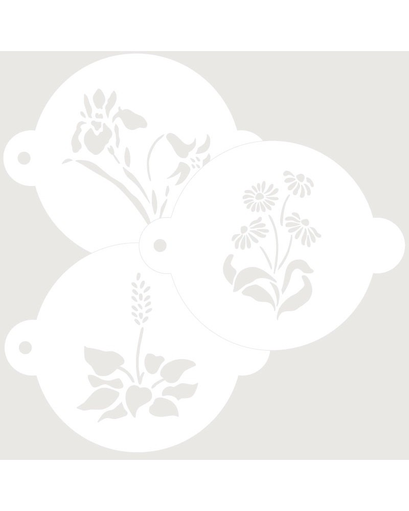 Stencil Reposteria Kit Floral 004