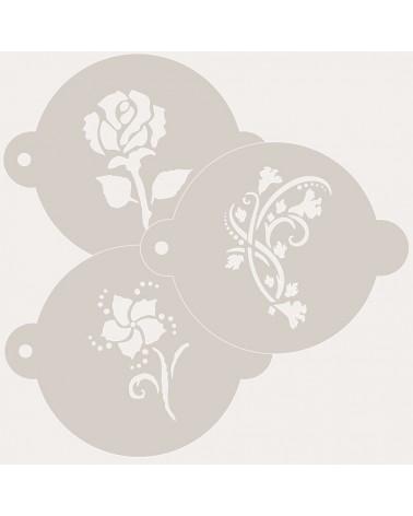 Stencil Reposteria Kit Floral 005