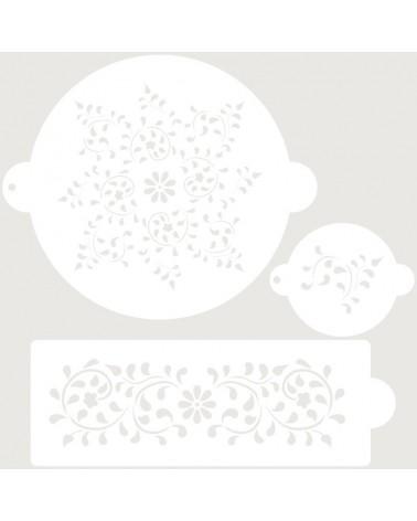 Stencil Reposteria Set Nupcial 006