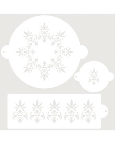 Stencil Reposteria Set Nupcial 002