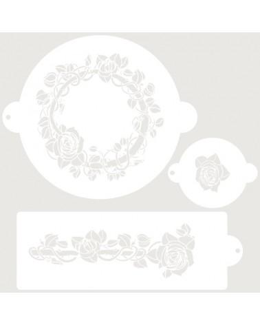 Stencil Reposteria Set Nupcial 001