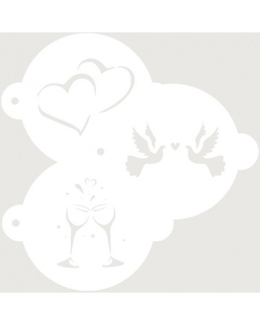 Stencil Reposteria kit Nupcial 003