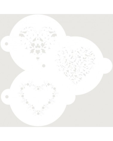 Stencil Reposteria kit Nupcial 005