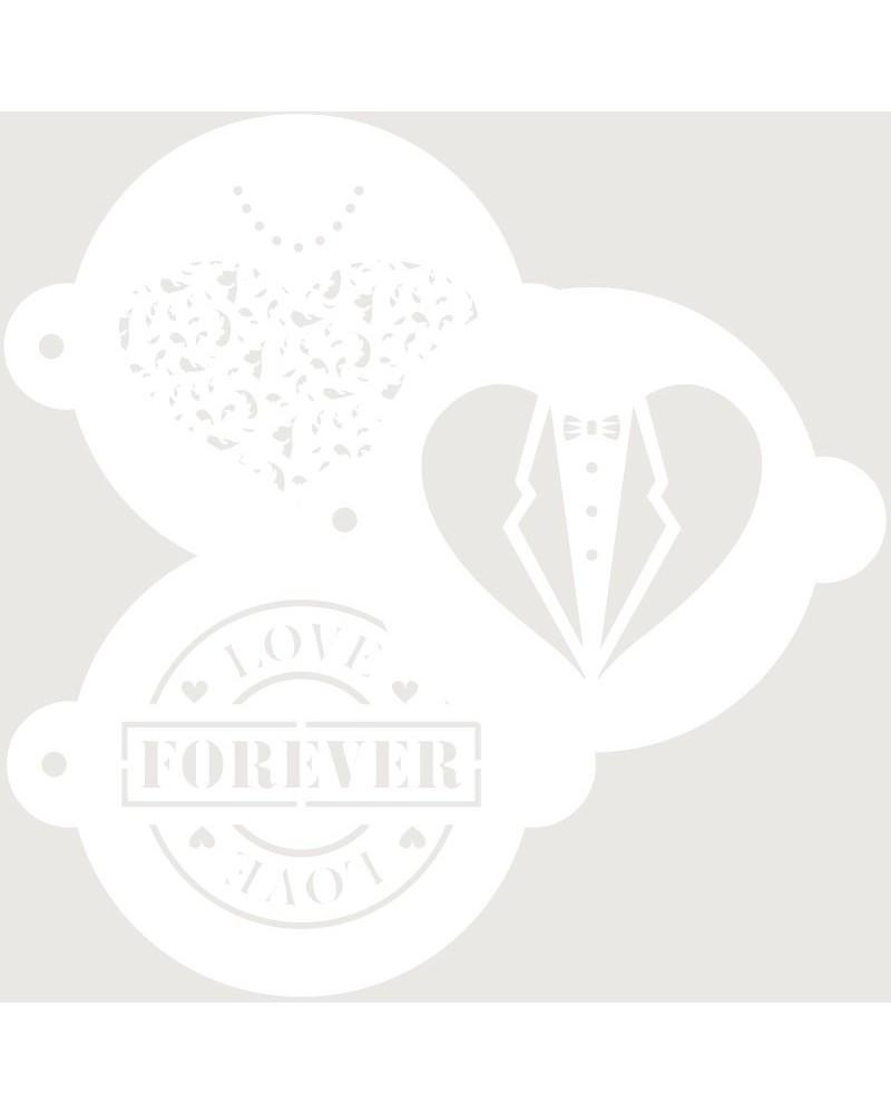 Stencil Reposteria kit Nupcial 007